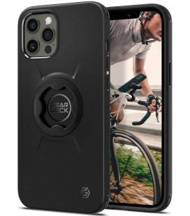 "Juodas dėklas Apple iPhone 12/12 Pro telefonui ""Spigen Gearlock GCF132"""