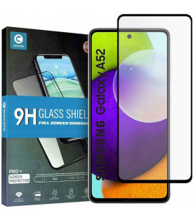 """Juodas apsauginis grūdintas stiklas Samsung Galaxy A52 telefonui """"Mocolo TG Full Glue"""""""