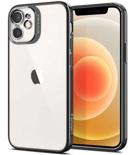 """Pilkas dėklas Apple iPhone 12 Mini telefonui """"Spigen Optik Crystal"""""""