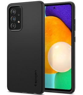 "Juodas dėklas Samsung Galaxy A52 telefonui ""Spigen Thin Fit"""