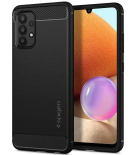 "Juodas dėklas Samsung Galaxy A52 telefonui ""Spigen Rugged Armor"""