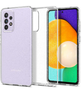 "Skaidrus dėklas su blizgučiais Samsung Galaxy A72 telefonui ""Spigen Liquid Crystal Glitter"""