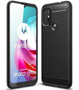 """Juodas dėklas Motorola Moto G10/G30 telefonui """"Tech-Protect TPUCarbon"""""""