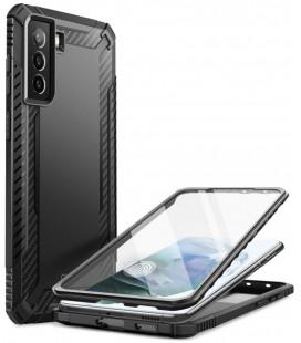 """Juodas dėklas Samsung Galaxy S21 telefonui """"Supcase Clayco Xenon"""""""