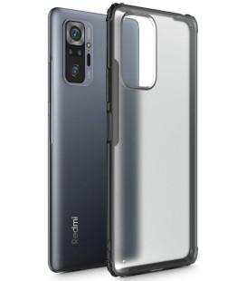 """Juodas dėklas Xiaomi Redmi Note 10 Pro telefonui """"Tech-Protect Hybridshell"""""""