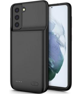 """Juodas dėklas su papildoma 4800mAh baterija Samsung Galaxy S21 telefonui """"Tech-Protect Powercase"""""""