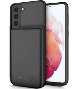"""Juodas dėklas su papildoma 6000mAh baterija Samsung Galaxy S21 Plus telefonui """"Tech-Protect Powercase"""""""