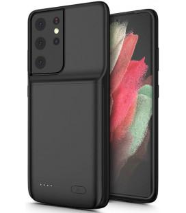 """Juodas dėklas su papildoma 4700mAh baterija Samsung Galaxy S21 Ultra telefonui """"Tech-Protect Powercase"""""""