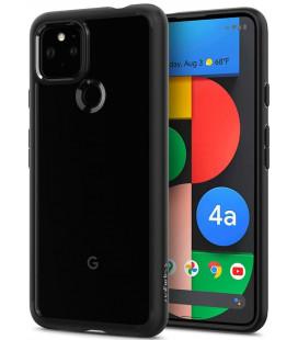 "Juodas dėklas Google Pixel 4A 5G telefonui ""Spigen Ultra Hybrid"""