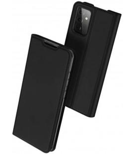 """Juodas atverčiamas dėklas Samsung Galaxy A72 telefonui """"Dux Ducis Skin Pro"""""""