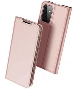 """Rausvai auksinės spalvos atverčiamas dėklas Samsung Galaxy A72 telefonui """"Dux Ducis Skin Pro"""""""