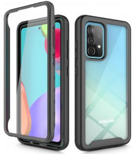 "Juodas dėklas Samsung Galaxy A52 LTE/5G telefonui ""Tech-protect Defense360"""