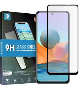 """Juodas apsauginis grūdintas stiklas Xiaomi Redmi Note 10 Pro telefonui """"Mocolo TG Full Glue"""""""