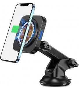 """Juodas magnetinis automobilinis telefonų laikiklis su belaidžio krovimo funkcija """"ESR Halolock Magnetic Magsafe"""""""