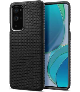 """Juodas dėklas Oneplus 9 Pro telefonui """"Spigen Liquid Air"""""""