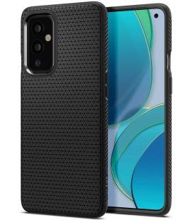 "Juodas dėklas Oneplus 9 telefonui ""Spigen Liquid Air"""
