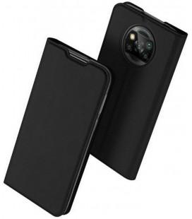 """Juodas atverčiamas dėklas Xiaomi Poco X3 Pro / X3 NFC telefonui """"Dux Ducis Skin Pro"""""""