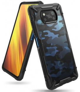 """Juodas (Camo) dėklas Xiaomi Poco X3 Pro / X3 NFC telefonui """"Ringke Fusion X"""""""