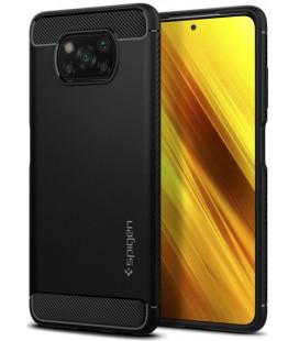 "Juodas dėklas Xiaomi Poco X3 Pro / X3 NFC telefonui ""Spigen Rugged Armor"""