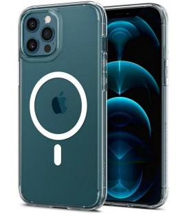 "Baltas dėklas Apple iPhone 12 Pro Max telefonui ""Spigen Ultra Hybrid MAG"""