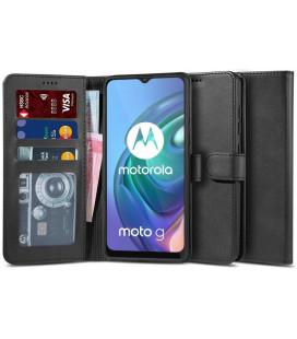 """Juodas atverčiamas dėklas Motorola Moto G10/G30 telefonui """"Tech-protect Wallet 2"""""""