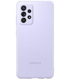 """Originalus violetinis dėklas """"Silicone Cover"""" Samsung Galaxy A52 telefonui """"EF-PA525TVE"""""""