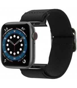 "Juoda apyrankė Apple Watch 4 / 5 / 6 / 7 / SE (42 / 44 / 45 mm) laikrodžiui ""Spigen Fit Lite"""