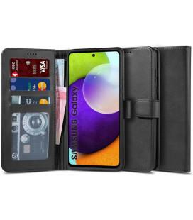"""Juodas atverčiamas dėklas Samsung Galaxy A72 telefonui """"Tech-protect Wallet 2"""""""