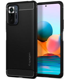 "Juodas dėklas Xiaomi Redmi Note 10 Pro telefonui ""Spigen Rugged Armor"""