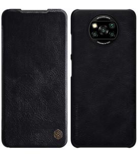 """Odinis juodas atverčiamas dėklas Xiaomi Poco X3 NFC / X3 Pro telefonui """"Nillkin Qin"""""""
