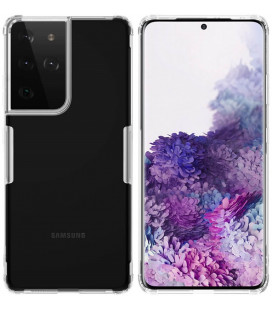 """Skaidrus silikoninis dėklas Samsung Galaxy S21 Ultra telefonui """"Nillkin Nature"""""""