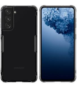 """Skaidrus/pilkas silikoninis dėklas Samsung Galaxy S21 telefonui """"Nillkin Nature"""""""