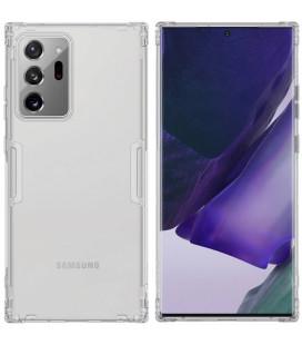 """Skaidrus/pilkas silikoninis dėklas Samsung Galaxy Note 20 Ultra telefonui """"Nillkin Nature"""""""