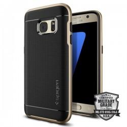"""Auksinės spalvos dėklas Samsung Galaxy S7 G930F telefonui """"Spigen Neo Hybrid"""""""