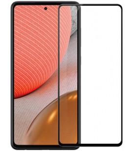 """Juodas apsauginis grūdintas stiklas Samsung Galaxy A72 telefonui """"Nillkin Amazing 2.5D CP+ Pro"""""""