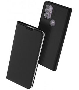 """Juodas atverčiamas dėklas Motorola Moto G10/G30 telefonui """"Dux Ducis Skin Pro"""""""