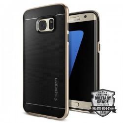 """Auksinės spalvos dėklas Samsung Galaxy S7 Edge G935F telefonui """"Spigen Neo Hybrid"""""""