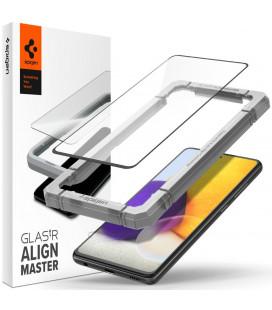 "Apsauginis grūdintas stiklas Samsung Galaxy A52 LTE/5G telefonui ""Spigen AlignMaster Glas tR"""