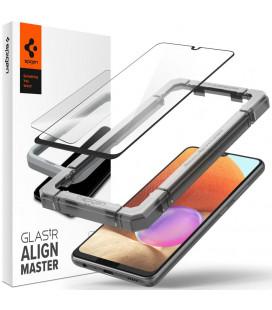 "Apsauginis grūdintas stiklas Samsung Galaxy A32 LTE telefonui ""Spigen AlignMaster Glas tR"""