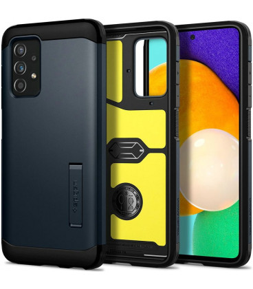 "Pilkas dėklas Samsung Galaxy A52 LTE/5G telefonui ""Spigen Tough Armor"""