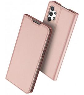 """Rausvai auksinės spalvos atverčiamas dėklas Samsung Galaxy A32 LTE telefonui """"Dux Ducis Skin Pro"""""""