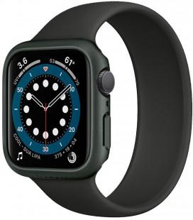 """Žalias dėklas Apple Watch 4/5/6/SE (44mm) laikrodžiui """"Spigen Thin Fit"""""""