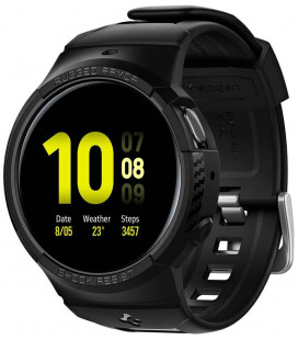 "Juodas dėklas Samsung Galaxy Watch Active 2 (44mm) laikrodžiui ""Spigen Rugged Armor PRO"""