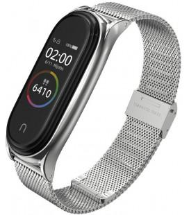 """Sidabrinės spalvos apyrankė Xiaomi Mi Smart Band 5/6 laikrodžiui """"Tech-Protect Milaneseband"""""""