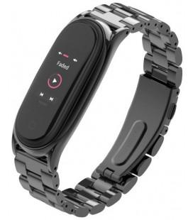 """Juoda apyrankė Xiaomi Mi Smart Band 5/6 laikrodžiui """"Tech-Protect Stainless"""""""