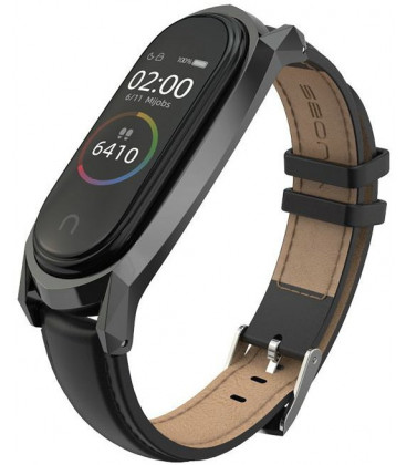 """Juoda apyrankė Xiaomi Mi Smart Band 5/6 laikrodžiui """"Tech-Protect Herms"""""""