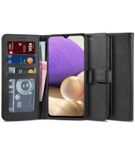 """Juodas atverčiamas dėklas Samsung Galaxy A32 LTE telefonui """"Tech-protect Wallet 2"""""""