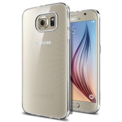 "Skaidrus dėklas Samsung Galaxy S6 G920F telefonui ""Spigen Liquid Crystal"""