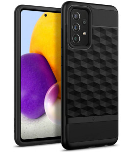 "Juodas dėklas Samsung Galaxy A72 telefonui ""Caseology Parallax"""