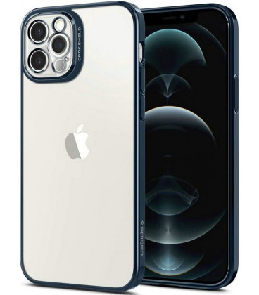 "Mėlynas dėklas Apple iPhone 12 Pro telefonui ""Spigen Optik Crystal"""